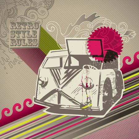 artistic designed: Conceptual designed artistic retro background.
