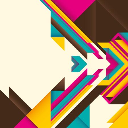 angular: Abstract illustration with angular objects. Illustration