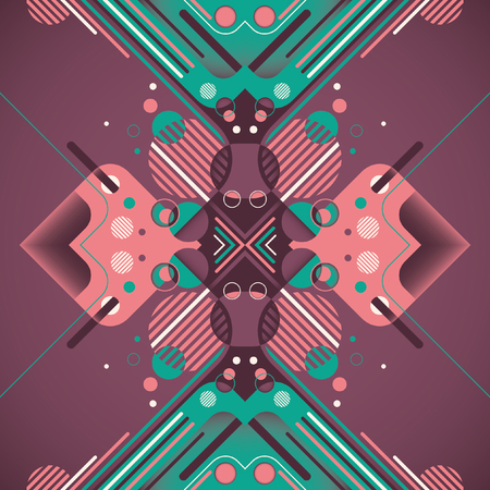 modish: Artistic illustration with abstract elements.
