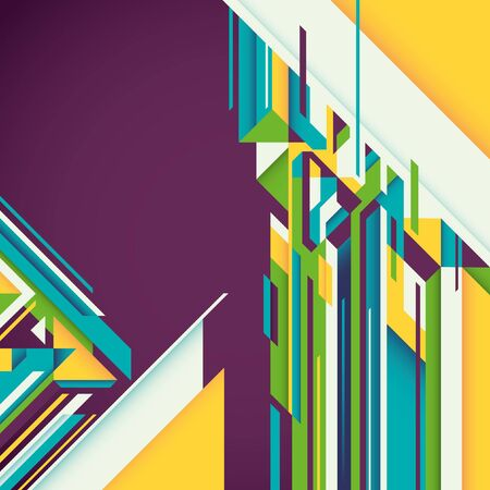 angular: Abstract graphic with colorful angular shapes.