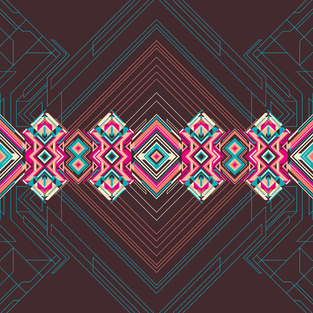 modernism: Abstract illustration with geometric elements.