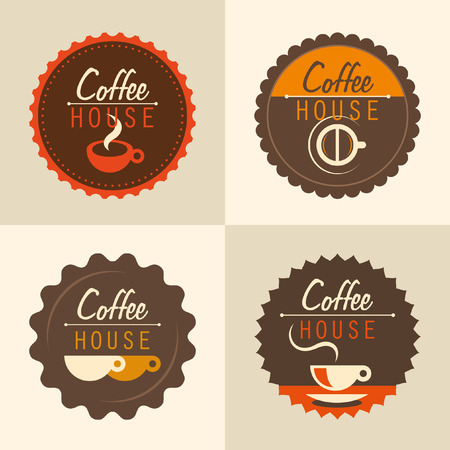 coffee house: Coffee house labels.