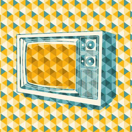abstraction: Abstraction with retro TV. Illustration