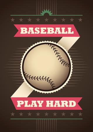 outfield: Modern baseball poster.