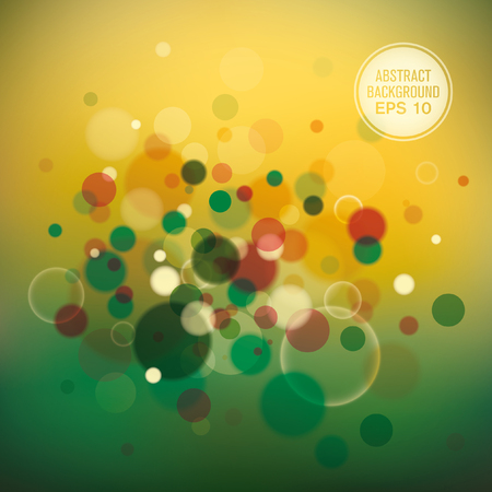 modish: Colorful abstract composition with bubbles.