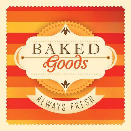baked goods: Baked goods label design.