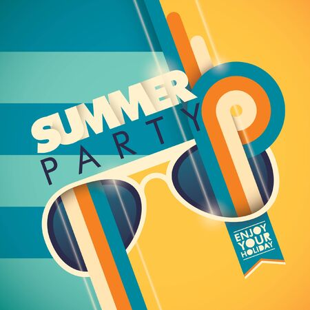 party background: Colorful summer party background.