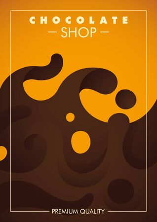 sweetened: Chocolate shop poster design with abstraction.