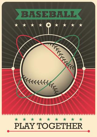 Retro baseball poster design.