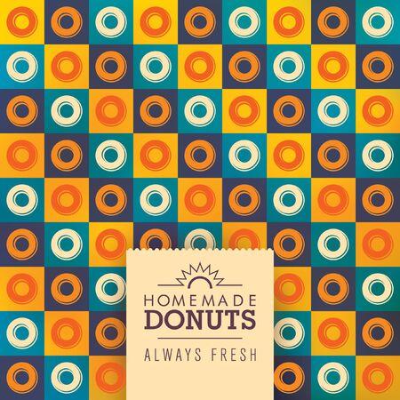 modish: Donuts background design in color.