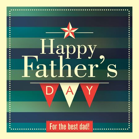 defuse: Fathers day card with retro design. Illustration