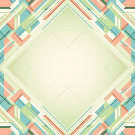 angular: Layout with angular shapes. Illustration