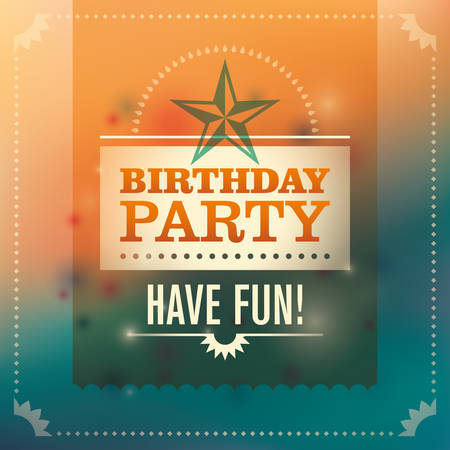birthday party: Birthday party invitation card.