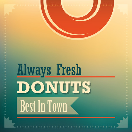tasteful: Donuts background in color.
