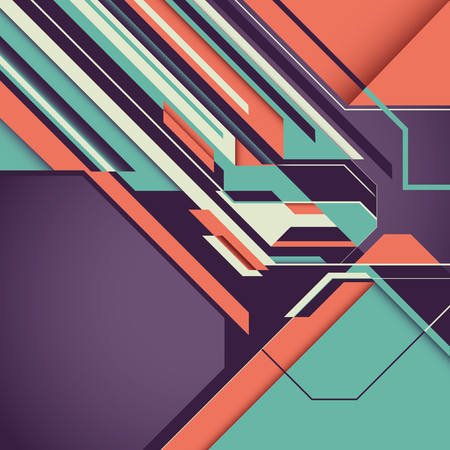 modish: Futuristic background with abstraction.