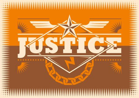 jus: Justice conceptual poster.