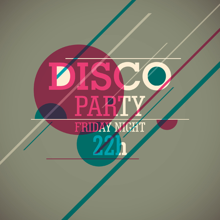 party background: Disco party background. Illustration