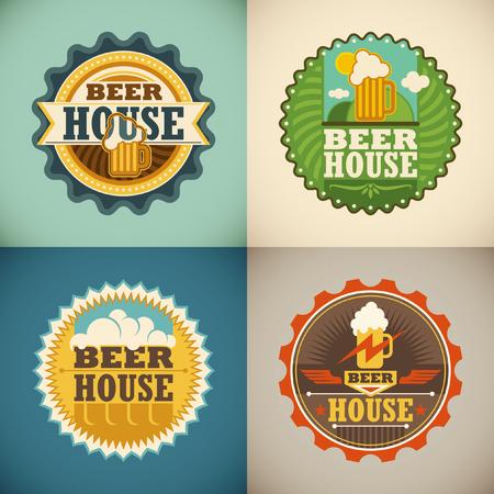 beer house: Set of beer house labels.