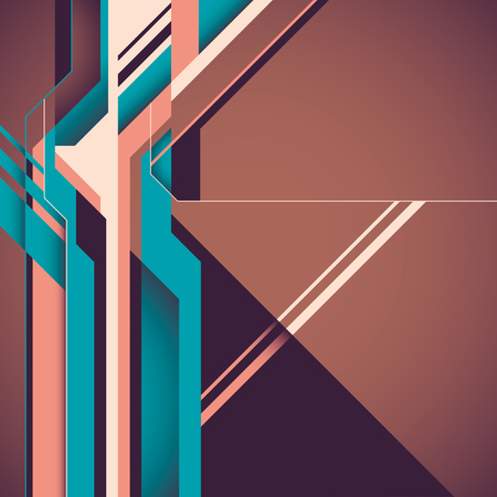 layout: Futuristic layout with abstract shapes.