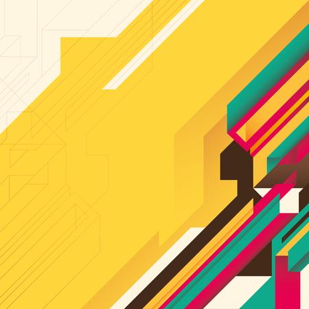 modish: Futuristic layout with geometric shapes.