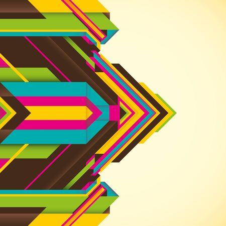 modish: Futuristic illustration with abstract objects. Illustration