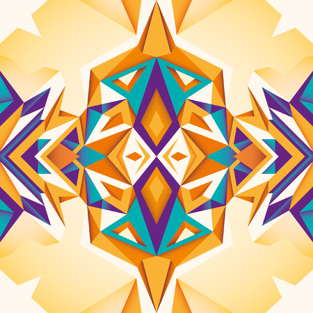 angular: Colorful abstraction with angular objects. Illustration