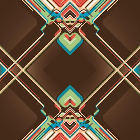 modish: Modern style abstraction. Illustration