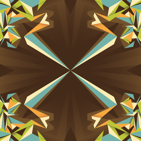 composition: Angular abstract composition. Illustration