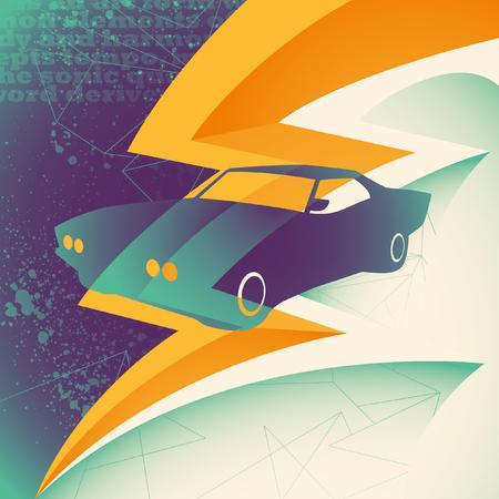 silhouette voiture: Résumé illustration avec la voiture silhouette.