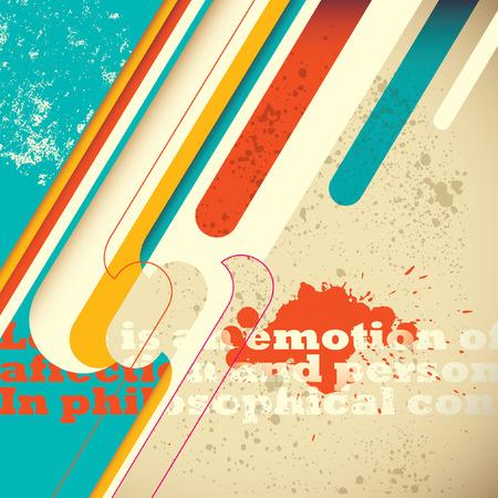 modish: Artistic colorful background. Illustration