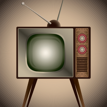 television set: Illustration of retro television set.