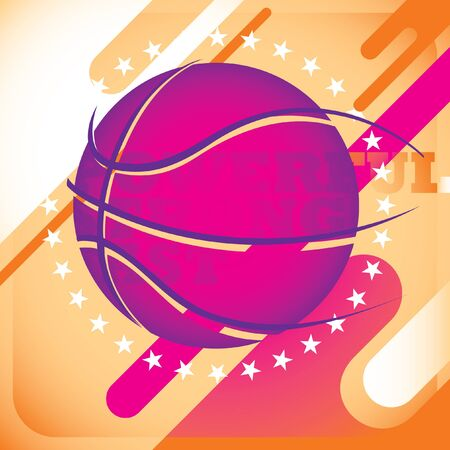 colrful: Modish basketball banner.