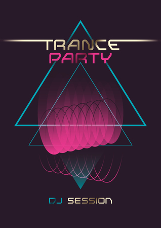 Trance party poster design.