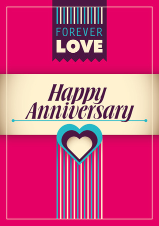 anniversary card: Happy anniversary card design.