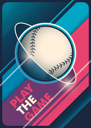 outfield: Modern baseball poster design. Illustration