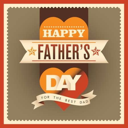 fatherhood: Modern fathers day card design.