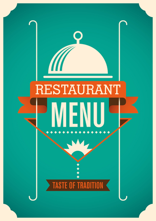 modern restaurant: Modern restaurant menu design.