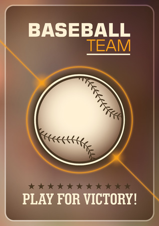 baseman: Baseball poster design. Illustration