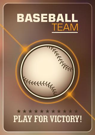 Baseball poster design. Illustration