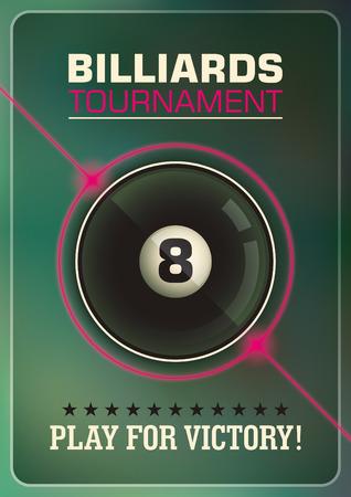 modish: Billiards tournament poster design.