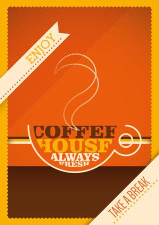 break in: Coffee break poster in color.