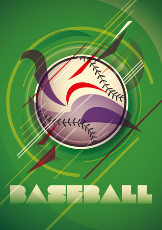 outfielders: Abstract baseball poster.