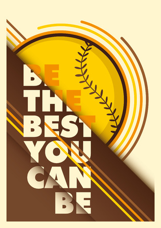 outfield: Baseball advertising poster design.