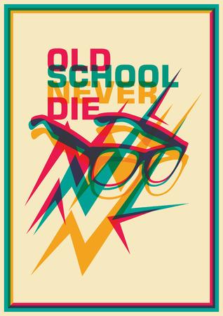 eyeglasses: Retro poster with eyeglasses. Illustration