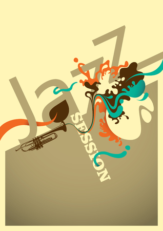 session: Jazz session poster design with abstraction. Illustration