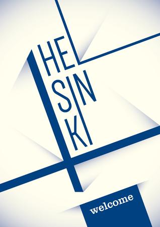 helsinki: Helsinki poster design. Illustration