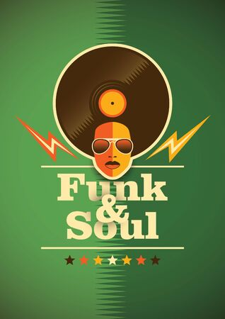 funk: Funk and soul poster.