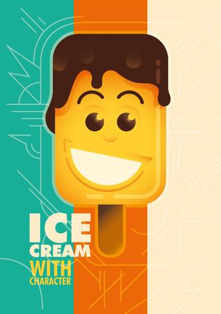 melt: Illustration of a comic ice cream.