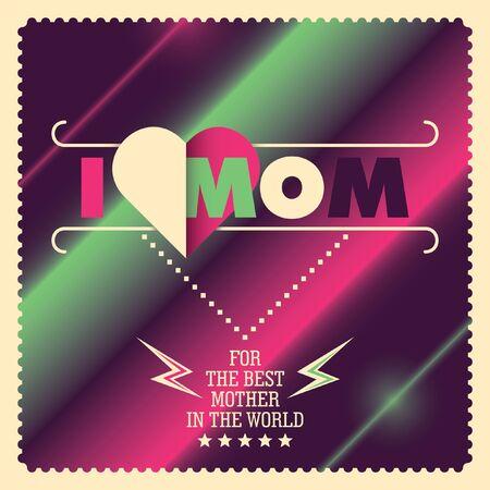 femine: Mothers day card. Illustration