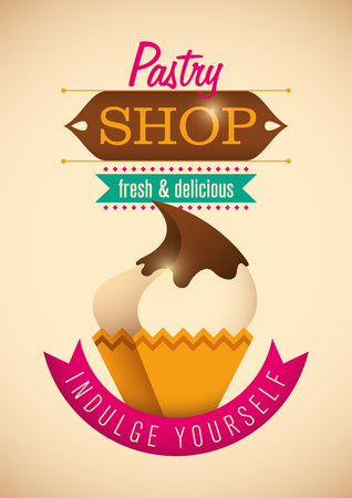 custard: Pastry shop poster design.